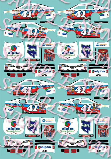 #46 JJ Yeley Military Warriors.com 1//32nd Scale Slot Car Waterslide Decals